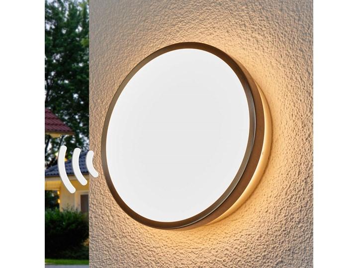 Lampa ścienna zew  LED Noxlite Circular z czuj