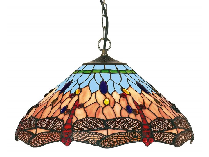 Klasyczna lampa wisząca w stylu Tiffany DRAGONFLY - Lampy wiszące ... 8d4c62b2de5