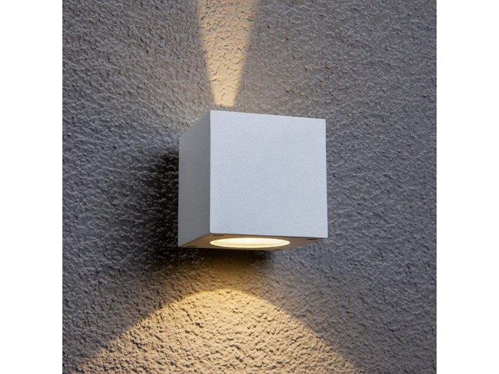 Biała Lampa ścienna Zewnętrzna Led Jarno Lampy Ogrodowe Zdjęcia