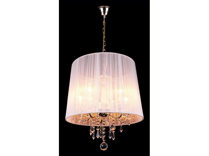 lampy wiszące kryształowe złoto białe