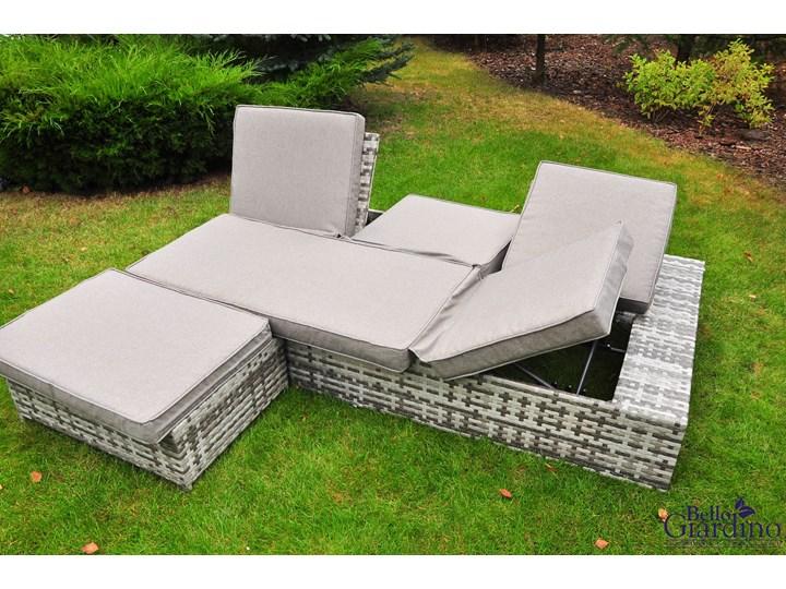 Wielofunkcyjne łóżko z technorattanu  DIABOLICO Zestawy wypoczynkowe Tworzywo sztuczne Aluminium Zawartość zestawu Stół