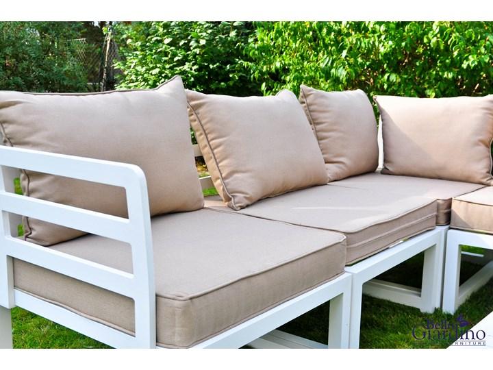 Duży narożnik ogrodowy ALLUMINIO GRANDE Zestawy wypoczynkowe Tworzywo sztuczne Aluminium Zawartość zestawu Stół