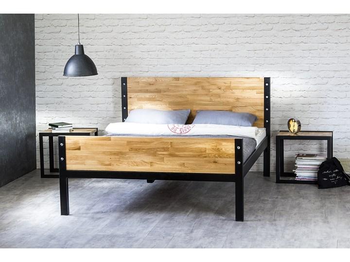 łóżko Drewniane Z Ramą Metalową Kori Z Dwoma Szczytami
