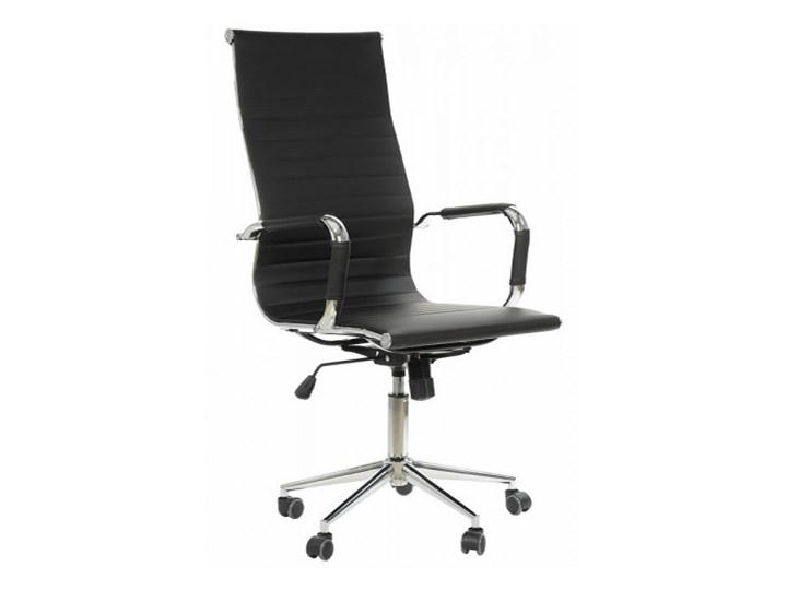 Fotel obrotowy NE-632H czarny - biurowy, gabinetowy - krzesło obrotowe