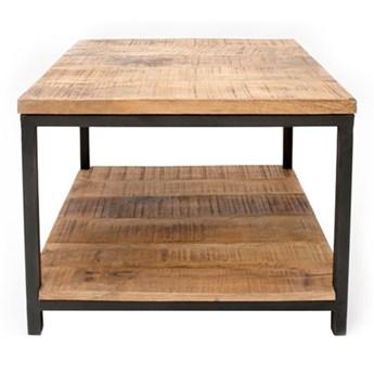 Stolik z drewna mango z czarną konstrukcją LABEL51 Vintage, 60x60 cm