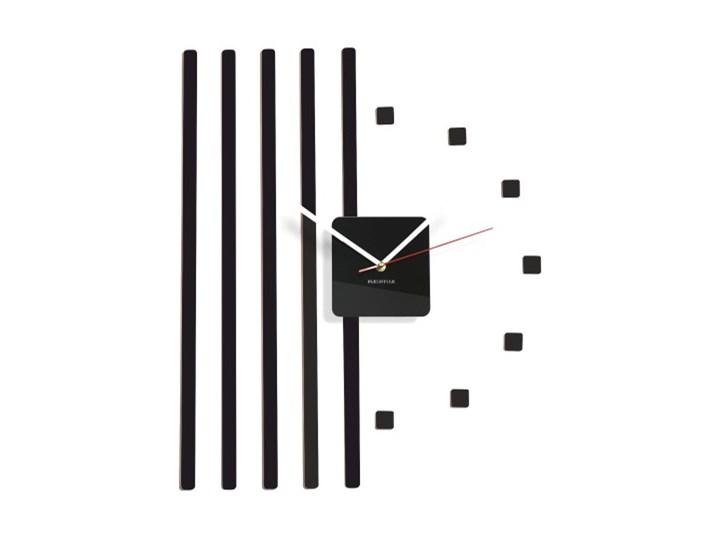 Zegar ścienny points kwadraty Nieregularny Szkło Pomieszczenie Salon