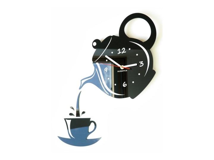 Zegar ścienny do kuchni DZBANEK z FILIŻANKĄ Nieregularny Zegar kuchenny Szkło Styl Nowoczesny
