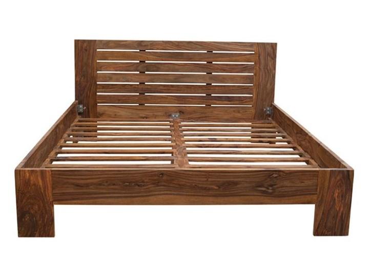 łóżko Drewniane 180x200 Spring Pu Brown Palisander łóżka Do