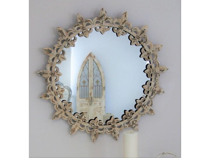 Owalne lustro w metlowej ramie Okrągłe Lustro z ramą Ścienne Kategoria Lustra