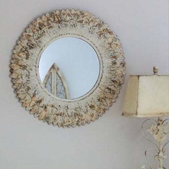 Owalne lustro w metlowej ramie