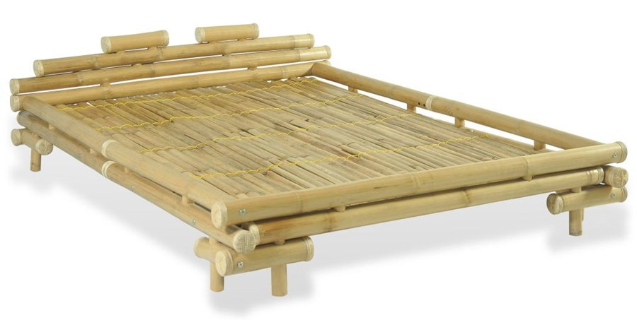 Vidaxl łóżko Bambusowe 140 X 200 Cm Kolor Naturalny