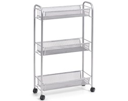 Wielofunkcyjny mobilny organizer do kuchni lub łazienki, 3 siatkowe półki , 4 kółka, materiał metal, marki Zeller