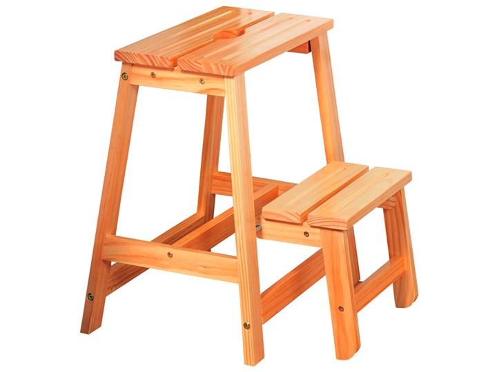 Drewniana drabinka składana, stopień kuchenny, podest pokojowy, taboret drewniany 2 w 1, dwustopniowa drabina, Kesper Materiał nóżek Drewno