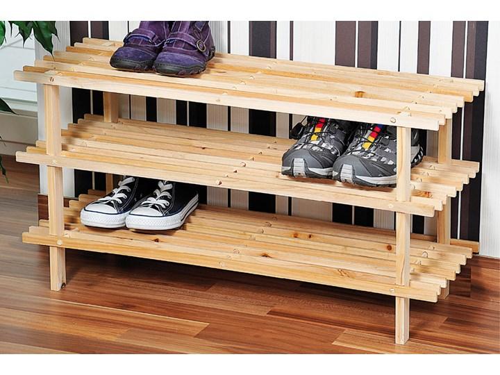 Gustowny stojak na buty z drewna sosnowego, regał na buty, szafka na buty do przedpokoju, półka na buty, drewniana półka, Kesper