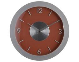 Zegar na ścianę w nowoczesnym stylu, zegar z cyframi, nowoczesny zegar, zegar do salonu, zegar kuchenny, zegar czerwony