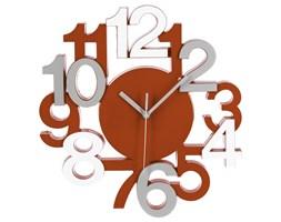 Zegar na ścianę w nowoczesnym stylu, zegar z cyframi, zegar do salonu, zegar kuchenny, zegar czerwony, designerskie zegary
