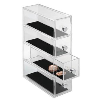 Przezroczysty organizer z 4 szufladami iDesign Clarity, wys. 25,5 cm