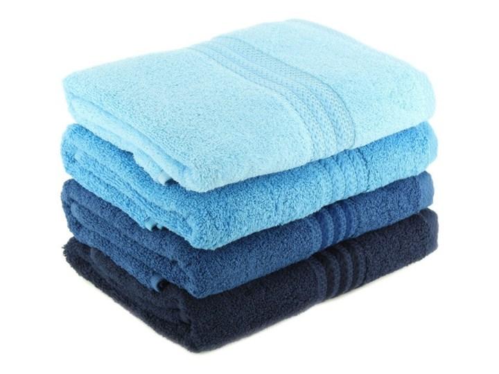 Zestaw 4 niebieskich ręczników kąpielowych Rainbow Sky, 70x140 cm Ręcznik kąpielowy Bawełna Komplet ręczników