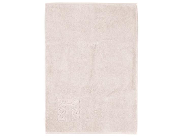 Kremowy dywanik łazienkowy z bawełny Casa Di Bassi Basic, 50x70 cm Prostokątny Bawełna tkanina Wzór nadruk