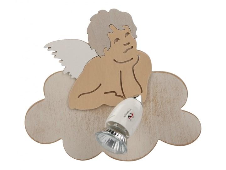 Reflektorek ścienny ANGELS I Nowodvorski styl dziecko sklejka drewno szary biały beżowy 6890