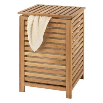 Kosz na pranie z drewna orzechowego Wenko Laundry Bin Norway, 65 l