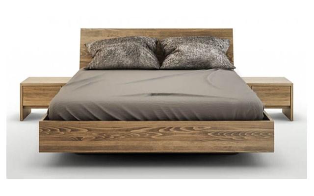 Zestaw Ballega łóżko Bukowe Lewitujące Plus Dwie Szafki 180x200 Cm