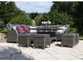 Zestaw mebli ogrodowych SIENA royal szary Tworzywo sztuczne Aluminium Technorattan Zawartość zestawu Narożnik Zestawy wypoczynkowe Zawartość zestawu Krzesła