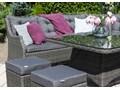 Zestaw mebli ogrodowych SIENA royal szary Technorattan Aluminium Zestawy wypoczynkowe Tworzywo sztuczne Zawartość zestawu Krzesła