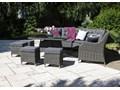 Zestaw mebli ogrodowych SIENA royal szary Tworzywo sztuczne Zestawy wypoczynkowe Technorattan Aluminium Zawartość zestawu Krzesła