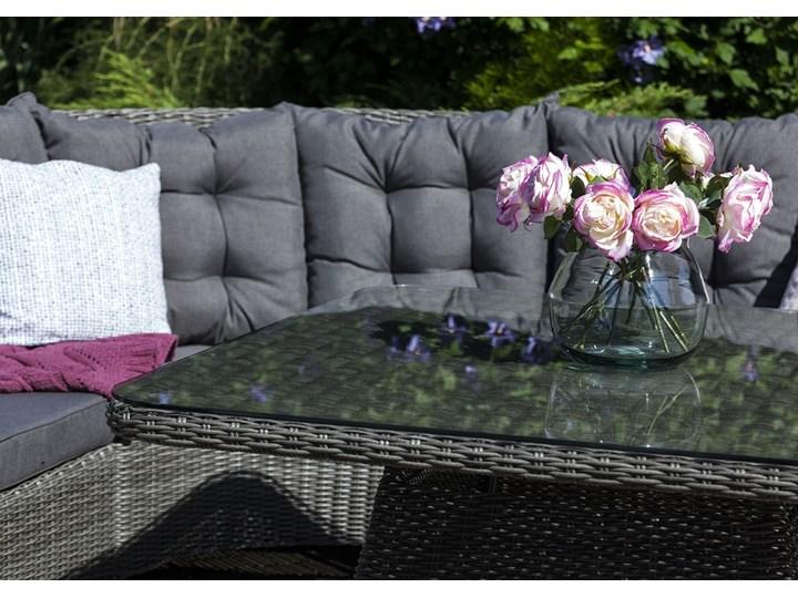 Zestaw mebli ogrodowych SIENA royal szary Zawartość zestawu Narożnik Technorattan Zestawy wypoczynkowe Tworzywo sztuczne Aluminium Zawartość zestawu Krzesła