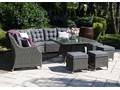 Zestaw mebli ogrodowych SIENA royal szary Zestawy wypoczynkowe Technorattan Tworzywo sztuczne Aluminium Zawartość zestawu Krzesła Zawartość zestawu Narożnik