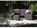 Zestaw mebli ogrodowych SIENA royal szary Tworzywo sztuczne Aluminium Zestawy wypoczynkowe Technorattan Zawartość zestawu Narożnik