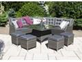 Zestaw mebli ogrodowych SIENA royal szary Tworzywo sztuczne Aluminium Zestawy wypoczynkowe Technorattan Zawartość zestawu Narożnik Zawartość zestawu Krzesła