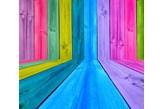 Fototapeta F2052 - Tło z kolorowych desek