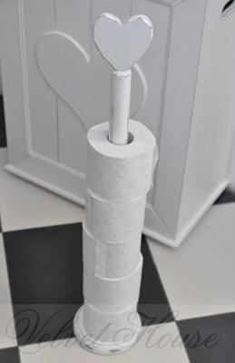 Stojak z serduszkiem - na zapas papieru toaletowego