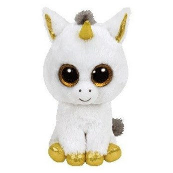 Maskotka TY INC Beanie Boos Pegasus - Biały jednorożec 15cm 36179