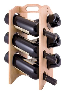 Drewniany stojak na wino Brillante 6 butelek