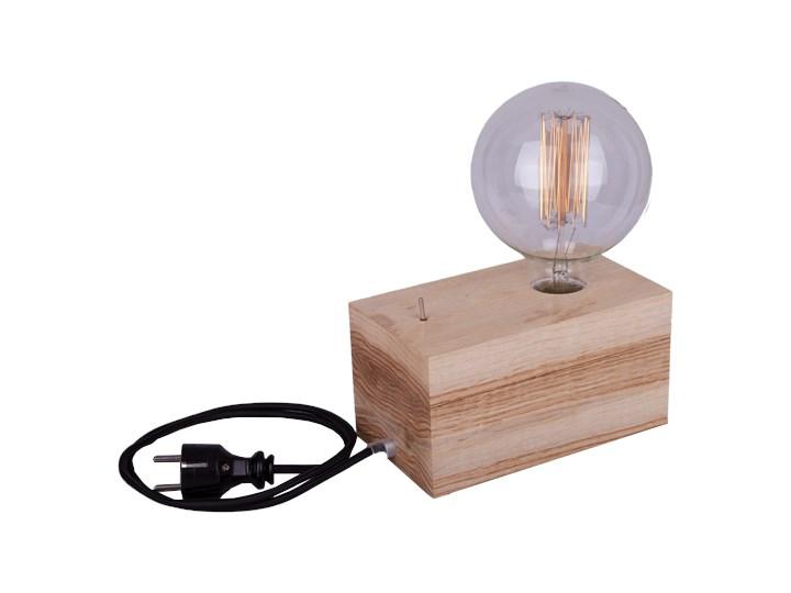 DREWNIANA LAMPA STOJĄCA D