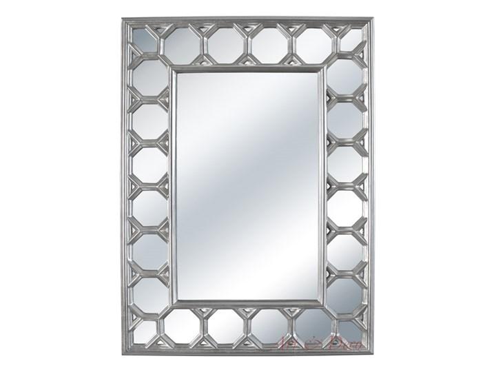 LUSTRO VENEZIA w srebrnej ramie prostokąt 103X139 kolor: srebrny, Materiał: poliuretan, rozmiar ramy: 103/139/4, rozmiar lustra: 57/93, EAN: 5903949790658 Styl Glamour