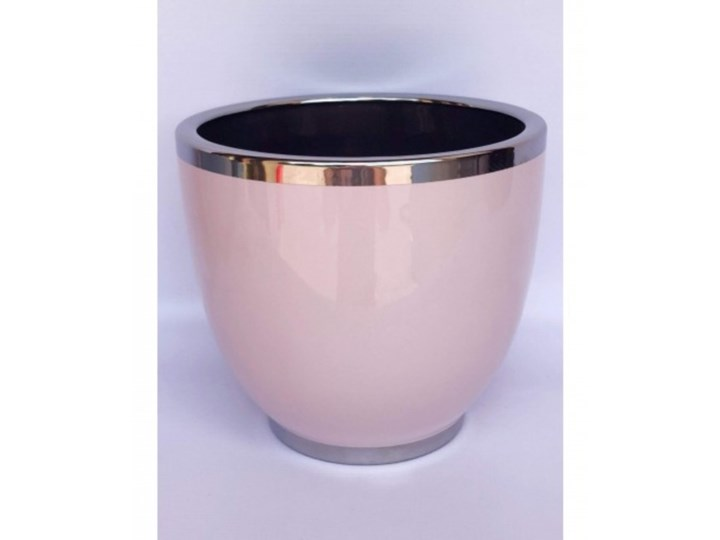 Doniczka Ceramiczna Różowo Srebrna Wybierz Rozmiar Janka