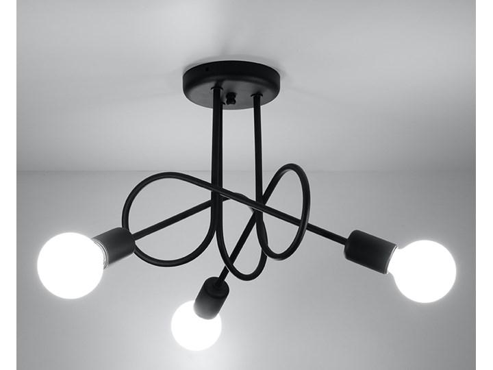 Sollux Designerski żyrandol Edison 3 Czarny