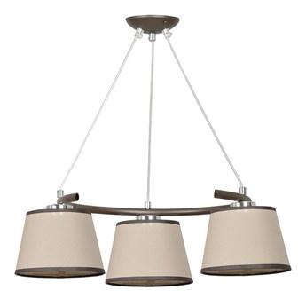 BARISTON 3 PREMIUM 492/PREM klasyczna abażurowa lampa wisząca