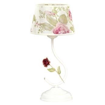 SUMMER LN1 139/LN1 klasyczna lampka nocna motyw kwiatowy
