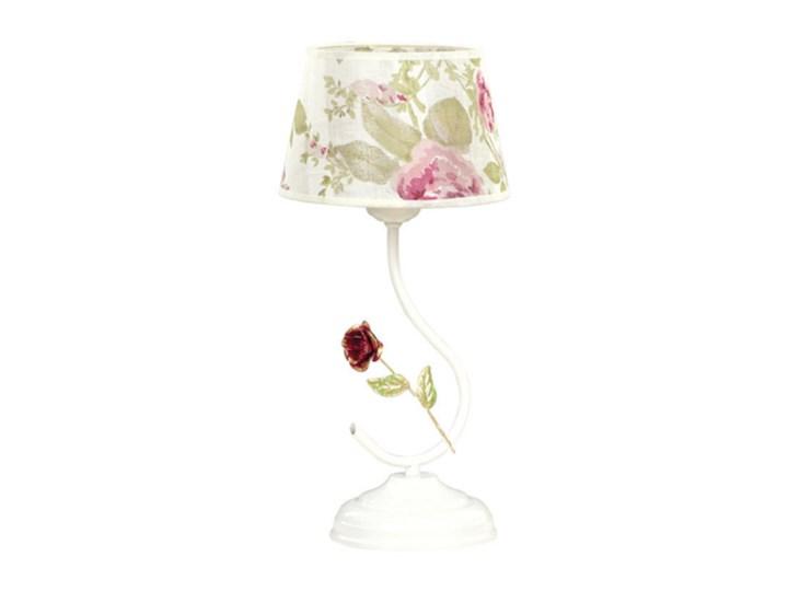 SUMMER LN1 139/LN1 klasyczna lampka nocna motyw kwiatowy Lampa nocna Lampa LED Wysokość 36 cm Lampa z abażurem Styl Klasyczny