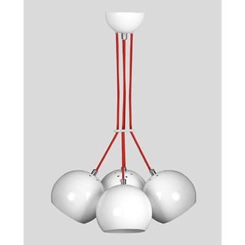 ORBITA 4 WHITE lampa wisząca nowoczesne białe kule
