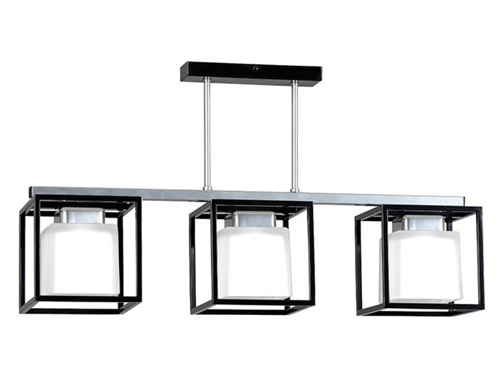 BETPOL 3 BLACK 258/3 nowoczesna lampa sufitowa białe klosze czarna ramka