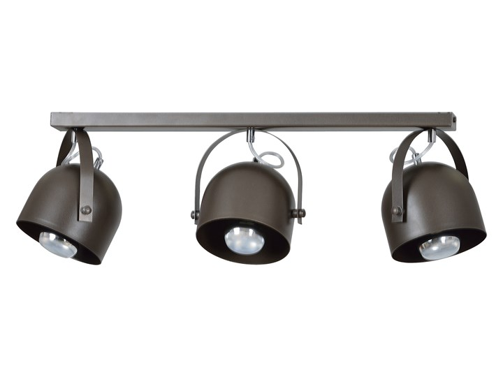 DOBSON 3 SPOT WENGE nowoczesna lampa sufitowa brąz ruchome klosze