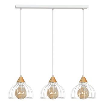 GRIP 3 WHITE 329/3 druciak loftowa lampa wisząca miedziane elementy regulowana wysokość