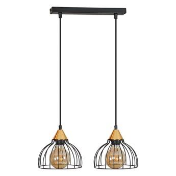 GRIP 2 BLACK druciak loftowa lampa wisząca miedziane elementy regulowana wysokość