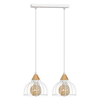 GRIP 2 WHITE druciak loftowa lampa wisząca miedziane elementy regulowana wysokość